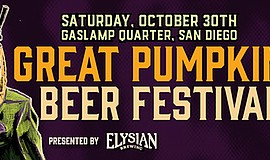 Graphic for The Great Pumpkin Beer Festival San Diego pre...