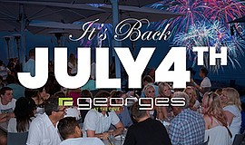 Graphic for July 4th Dinner & Fireworks at George's at th...