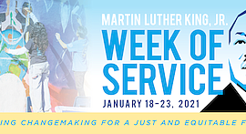 Promo graphic for Martin Luther King Jr. Week Of Service