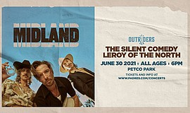 Promotional graphic for Midland live at Petco Park + Lero...