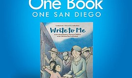 Promo graphic for One Book, One San Diego For Kids Auth...