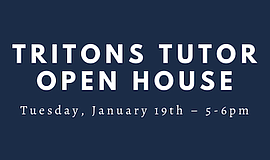Promo graphic for Tritons Tutor Open House