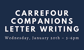 Promo graphic for Letter Writing With UCSD Carrefour Co...