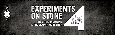 "Promotional graphic for ""Experiments On Stone: Four Women..."