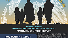 Promotional graphic for Women On The Move: A Conversation With Danielle Villa...