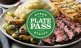 Promo graphic for Urban Plates' Plate Pass