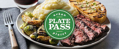 """Promotional graphic for """"Urban Plates' Plate Pass"""". Court..."""