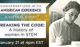 Promo graphic for Breaking The Code: A History Of Women...