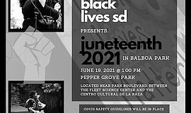 Promotional photo for Artists 4 Black Lives SD Juneteenth...