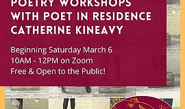 Promotional graphic for Catherine Kineavy's poetry worksh...