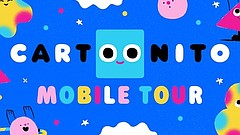 Promotional graphic for Cartoonito Mobile Tour, courtesy of the SDCDM.