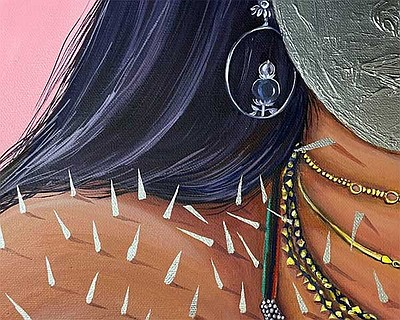 Detail of a painting by Chitra Gopalakrishnan courtesy of...