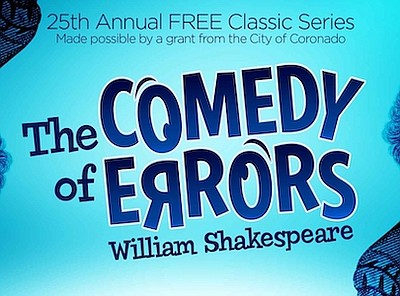 """Promotional graphic for """"The Comedy of Errors"""", courtesy ..."""