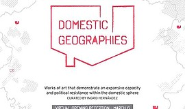 Promo graphic for 'Domestic Geographies': 14th Annual D...