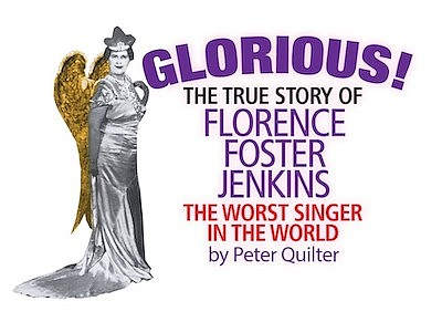 Promotional graphic for Glorious By Peter Quilter, courte...