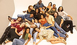 """The cast of """"Hair."""" Photo by Jim Cox. Courtesy of The Old..."""