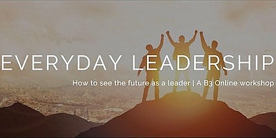 """Promotional graphic for """"How To See The Future As A Leade..."""