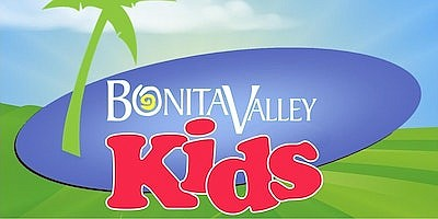 """Promotional graphic for """"Bonita Valley Kids January"""". Cou..."""