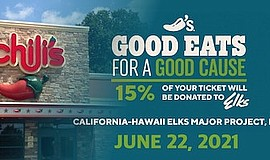 Promo graphic for Elks Charity Fundraiser At Chili's Re...