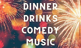 """Promotional graphic for """"Fabulous 4th - Dinner, Comedy & ..."""