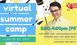 Promo graphic for Virtual Magic Camp With Nathaniel Segal