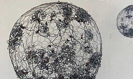 """""""Nucleus 1,"""" is a wire sculpture by Anne Mudge. Photo cou..."""