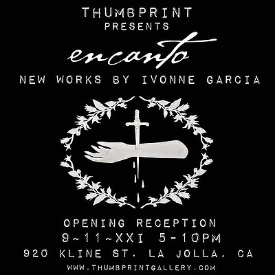 Promotional poster for Ivonne Garcia's solo exhibition co...