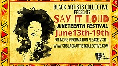 Promotional graphic for Say It Loud Juneteenth Festival courtesy of San Diego...