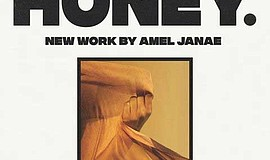 """Promotional graphic for Amel Janae's exhibition, """"Like Ho..."""