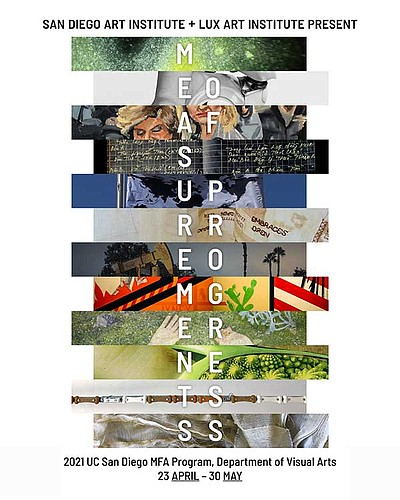 """Promotional graphic collage for """"Measurements of Progress..."""