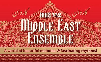 Promotional graphic for Grossmont Middle East Ensemble, c...