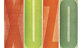 Promo graphic for 'Press On': Explorations In Wood Type...