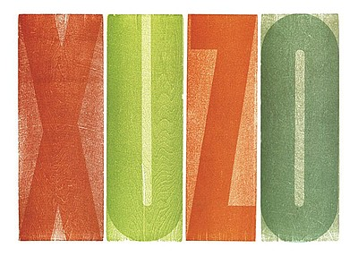Promotional graphic of Susan Merritt's wood type work, co...