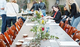"""Promotional photo for """"Spring Farm To Table Dinner"""". Cour..."""