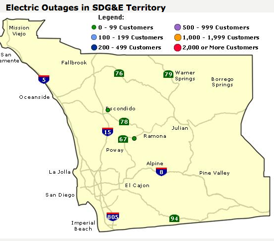 Power Outages In San Diego County