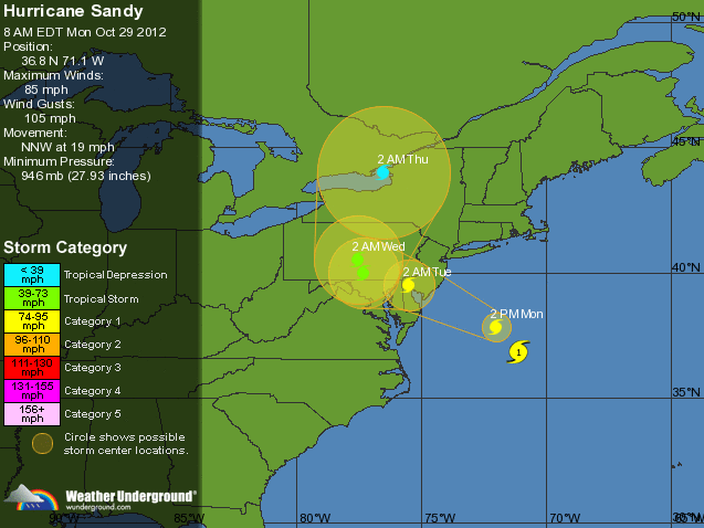Tracking Hurricane Sandy