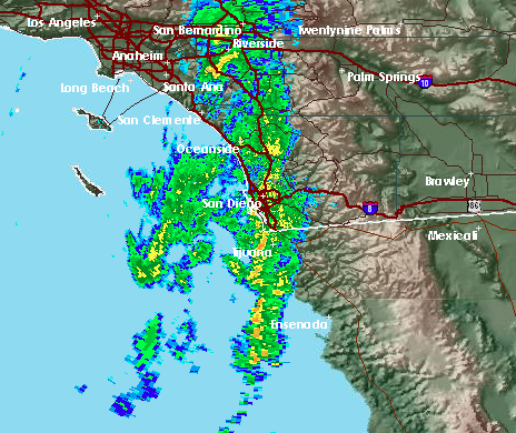 San Diego Weather Map Winter Storm Brings Rain, Snow To San Diego County | KPBS