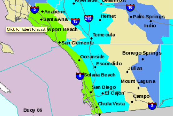 San Diego County Freeze Warning