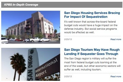 KPBS In-Depth Coverage Of Potential Sequestration Impacts On San Diego