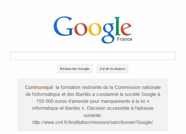 French Court Orders Google To Display Notice On Its Search Page