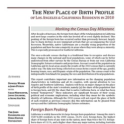 Study: The New Place of Birth Profile