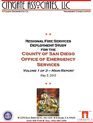 Regional Fire Services Deployment Study For The County Of San Diego Office Of Emergency Services