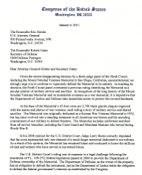 Letter From Congressmen Hunter and Bilbray