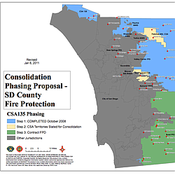 Map of SD County Regional Fire Authority