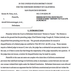 Latest Ruling In Prop. 8 Case