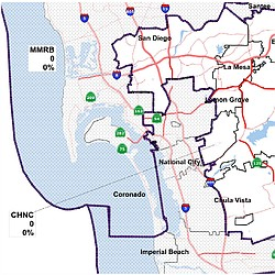 Proposed Congressional Districts For San Diego ...