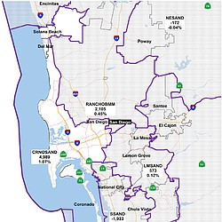 Proposed State Assembly Districts For San Diego County