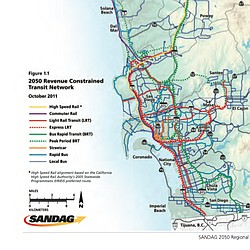 2050 Revenue Constrained Transit Network