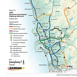 2050 Revenue Constrained Highway Network