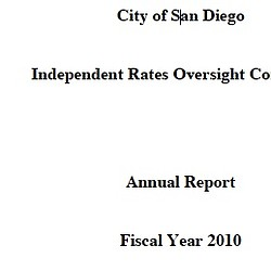 Independent Rates Oversight Committee Annual Report